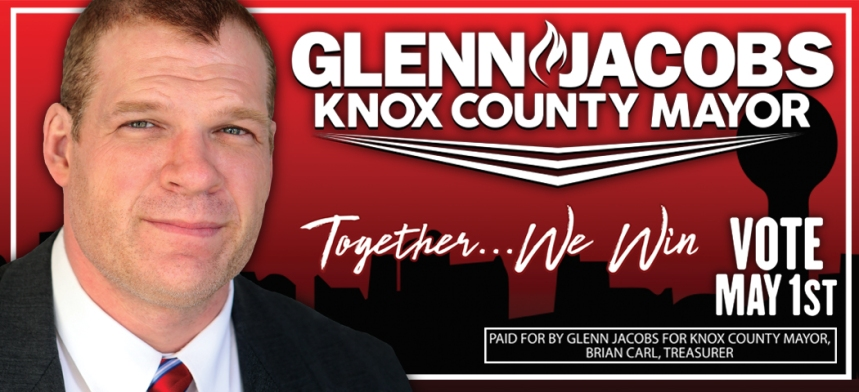 Gleen Jacobs for Mayor Ad for McCalla Around Knoxville FLAT