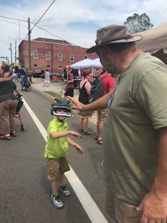Commissioner Carson Daily High Fives A sweet Little Boy (my son)